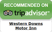 Western Downs Motor Inn - Recommended on Trip Advisor